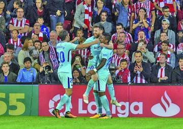"Barcelona vence a Athletic en su visita a ""San Mamés"""
