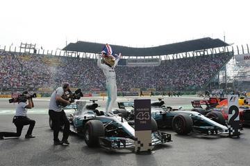 Hamilton firma su cuarto título Mundial en México