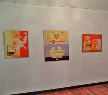 Exponen las obras del artista plástico René Arrueta en la Casa de Moneda