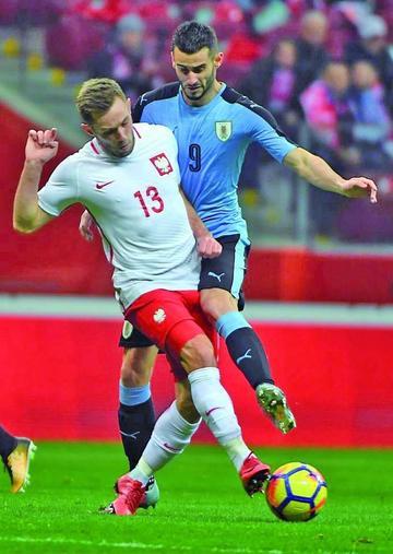 Uruguay firma el empate ante Polonia