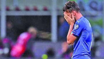 Italia se queda sin su primer Mundial en 60 años