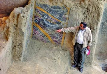 Incendio destruye un mural de 2.000 años