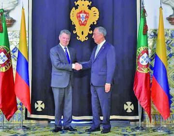 Santos es homenajeado en Portugal por apoyar a la paz en Colombia