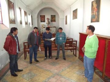 Inician trabajos de mantenimiento y  refacción en el templo de San Martín