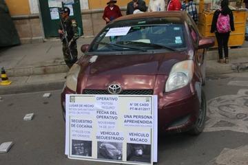 Felcn incauta en Potosí cocaína valuada en más de 50 mil dólares