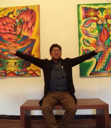 Cierra la exposición del artista Mamani Mamani