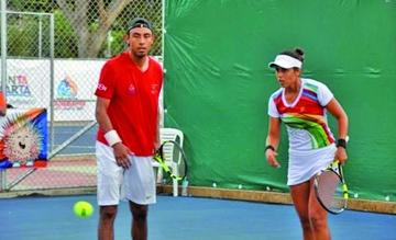 Zeballos y Arias se bañan de plata en tenis mixto