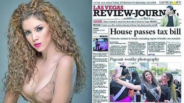 La Miss Bolivia es tapa de periódico