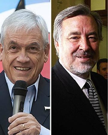 Piñera y Guillier buscan apoyo para la segunda  vuelta en Chile