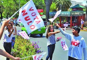 TSE descarta sancionar a campañas por el voto  nulo para las judiciales