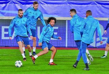 Real Madrid trabaja con la mente puesta en Málaga