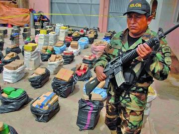 La Felcn secuestra más de 250 toneladas de droga en 11 meses