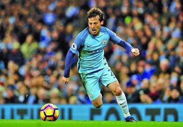 Manchester City vence a West Ham con un gol del español David Silva