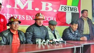 Mineros dan la espalda a Guido Mitma y urge congreso en la COB