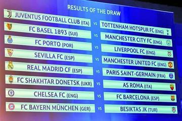 Liga de Campeones ya tiene la llave de los octavos de final