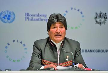 Evo Morales exige a los países desarrollados el pago de la deuda climática