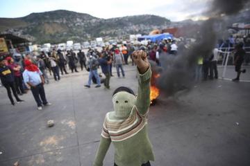 """Hay protestas contra un supuesto """"fraude"""" electoral en Honduras"""