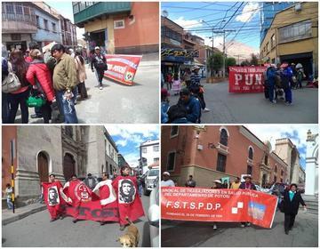 Trabajadores en salud bloquean y marchan contra el Gobierno