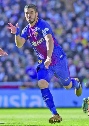 Luis Suárez celebra los 400 goles de su carrera