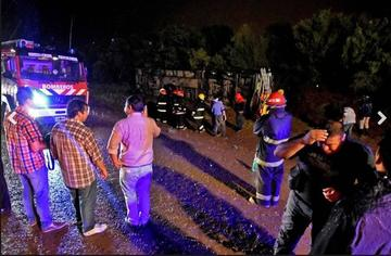 Cinco bolivianos mueren en un accidente de bus en Argentina