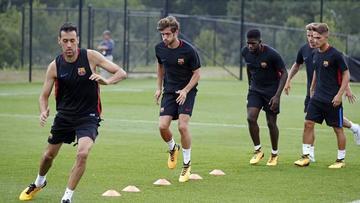 Barcelona vuelve a los entrenamientos sin Messi, Luis Suárez y Mascherano