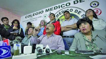 El Colegio Médico de Bolivia hoy presentará una contrapropuesta
