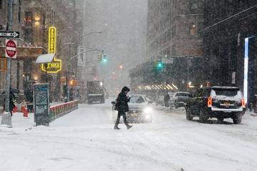 Una intensa tormenta de nieve azota a la ciudad de Nueva York