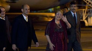 Bachelet inicia en Cuba su penúltimo viaje como jefa de Estado