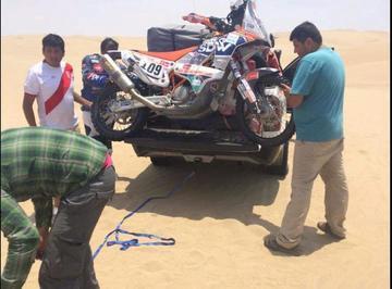 Daniel Nosiglia no afloja y Danny Nogales abandona el Dakar