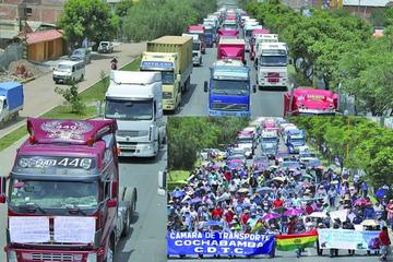 El transporte pesado bloquea y otra fracción acepta el diálogo