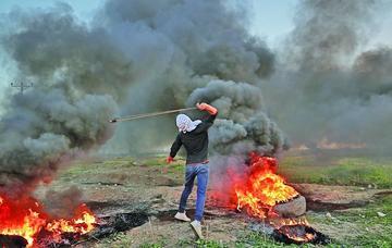 Protestas palestinas provocan decenas de heridos y detenidos