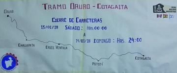 Desde hoy cierran carreteras en el sur de Potosí por el paso del Dakar