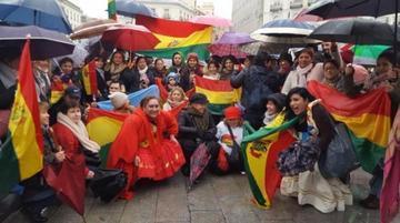 Bolivianos en Madrid se movilizaron para exigir respeto al voto del 21F