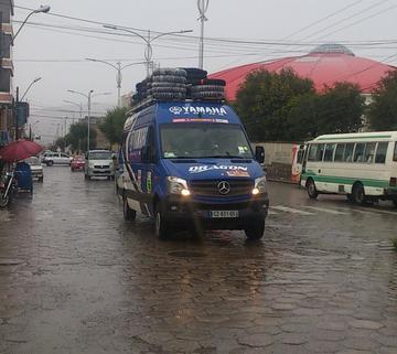 El paso de los camiones de asistencia  del Dakar no se sintió en Potosí