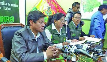 INRA y Sernap evitarán asentamientos ilegales en áreas protegidas