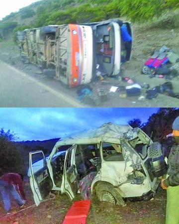 Un pasajero elude a la muerte tras dos accidentes continuos