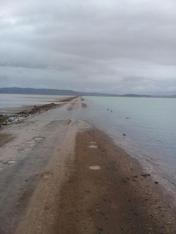 Carreteras en el sudoeste potosino quedan bajo el agua