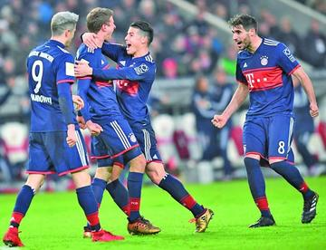 Bayern derrota a Maguncia con goles de Franck Ribery y James Rodríguez