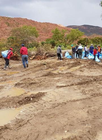 Fortalecen defensivos en el río Tupiza contra desastres
