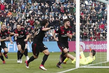 Milan golea 4-0 a Spal en la vigésima cuarta jornada de la Serie A italiana