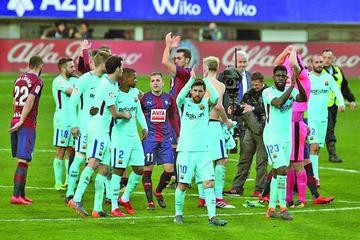 """Barcelona sufre para vencer a Eibar en el estadio """"Ipurúa"""""""