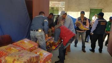 Asamblea lleva alimento a los afectados por desastres
