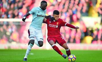 Liverpool golea a West Ham en la Premier League