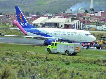 Percance del BoA en aeropuerto se debió a una mala maniobra