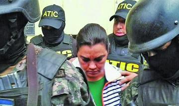 Capturan a la esposa de un expresidente hondureño por lavado de dinero