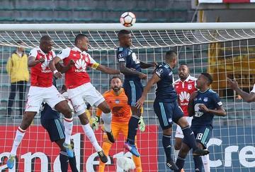 Emelec saca un empate ante Santa Fe en Bogotá