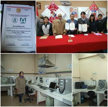 El Laboratorio CIMA de la UATF cuenta con una acreditación nacional