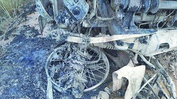 Mueren dos personas por incendio en accidente vial