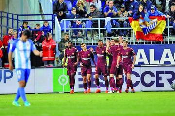 """Barcelona vence con claridad a Málaga en """"La Rosaleda"""""""