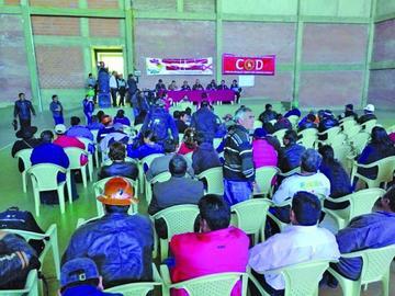COB analiza aumento salarial  en ampliado nacional de Potosí